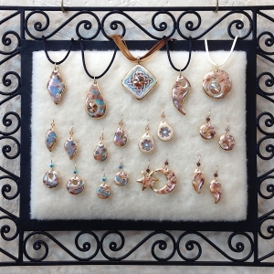 Marbled Pendants & Earrings
