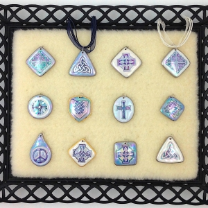 Shades of Blue ~ Image Pendants