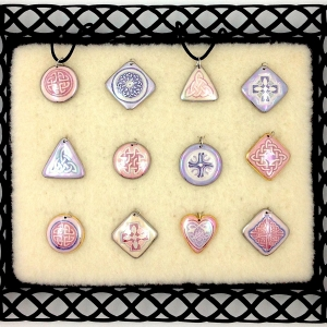 Pink & Purple ~ Image Pendants